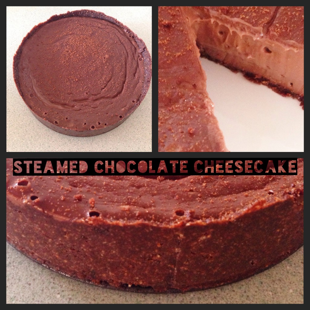 Steamed Chocolate Cheesecake