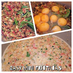 Making Easy Mini Frittatas