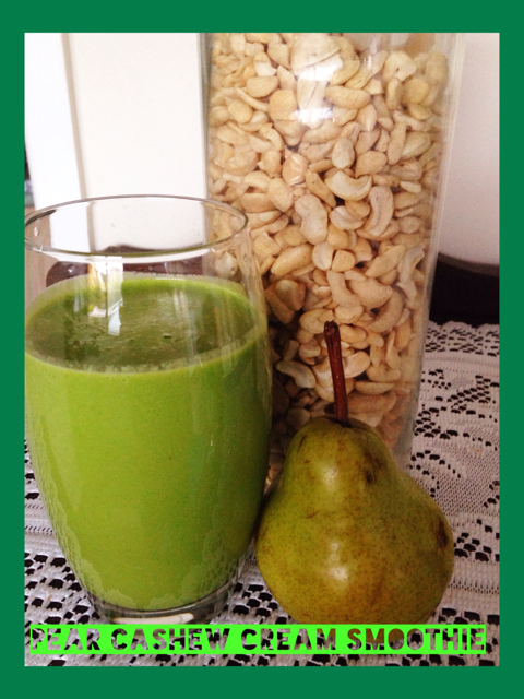 Pear Cashew Smoothie Thermomix