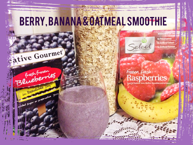 Berry Banana Oatmeal Thermomix Smoothie