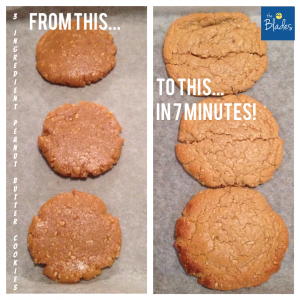 Peanut Butter Cookies Before and After