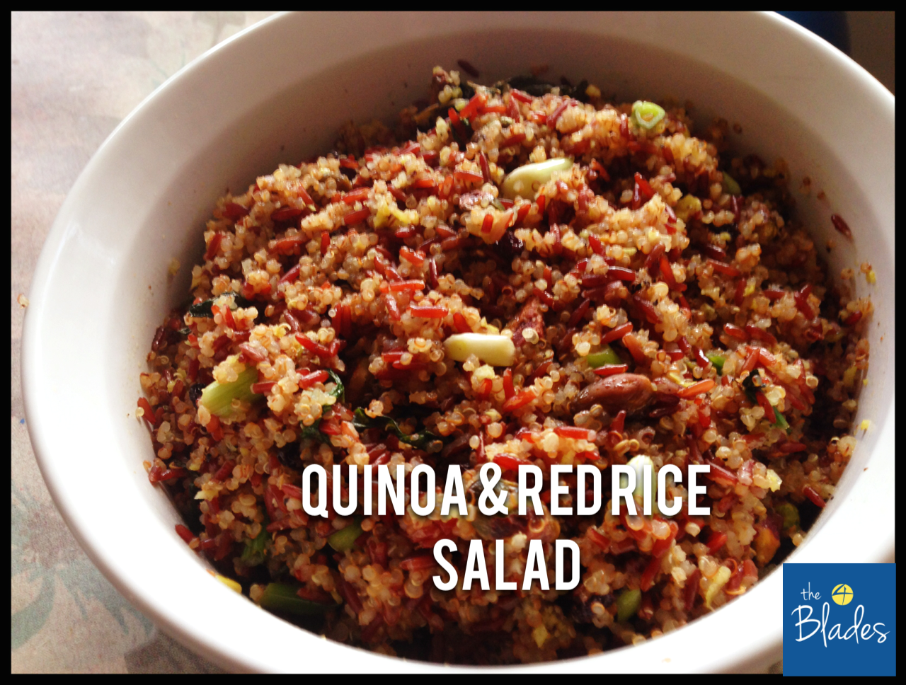 Recipe 1 – Red Rice Quinoa Salad with Pistachios and Mint (from ...