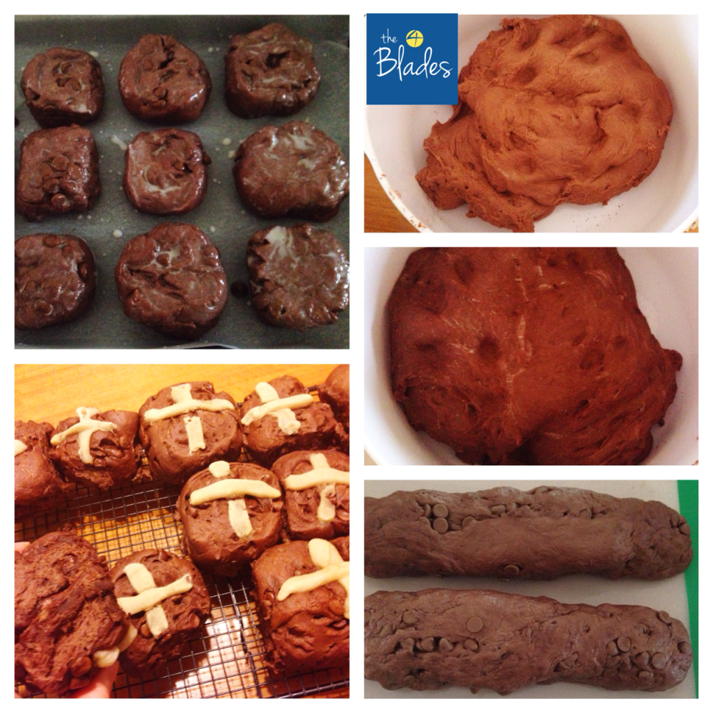 Through the stages of the recipe...
