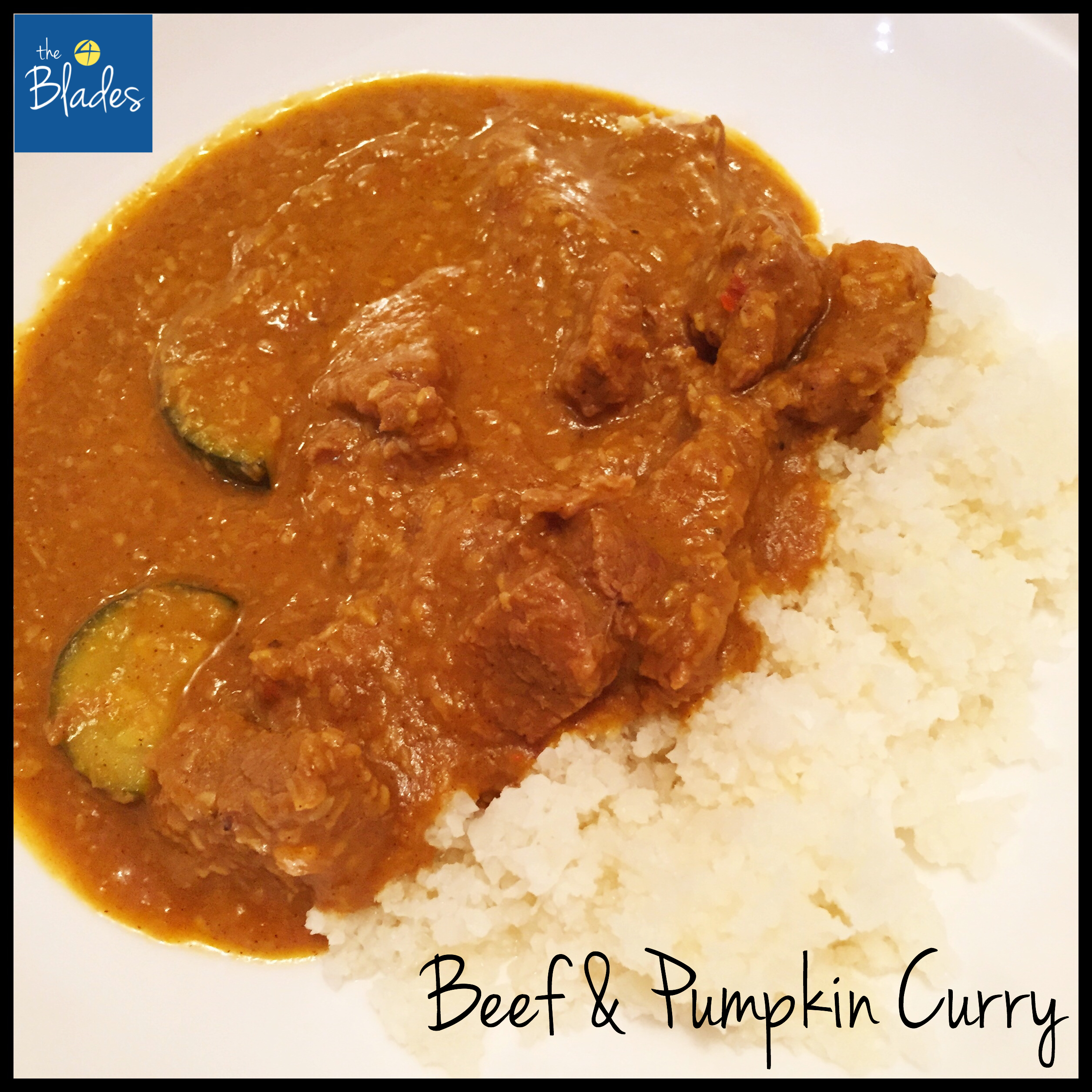 Beef & Pumpkin Curry Thermomix Recipe - The 4 Blades