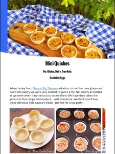 Quiche, made gluten free! Delicious!