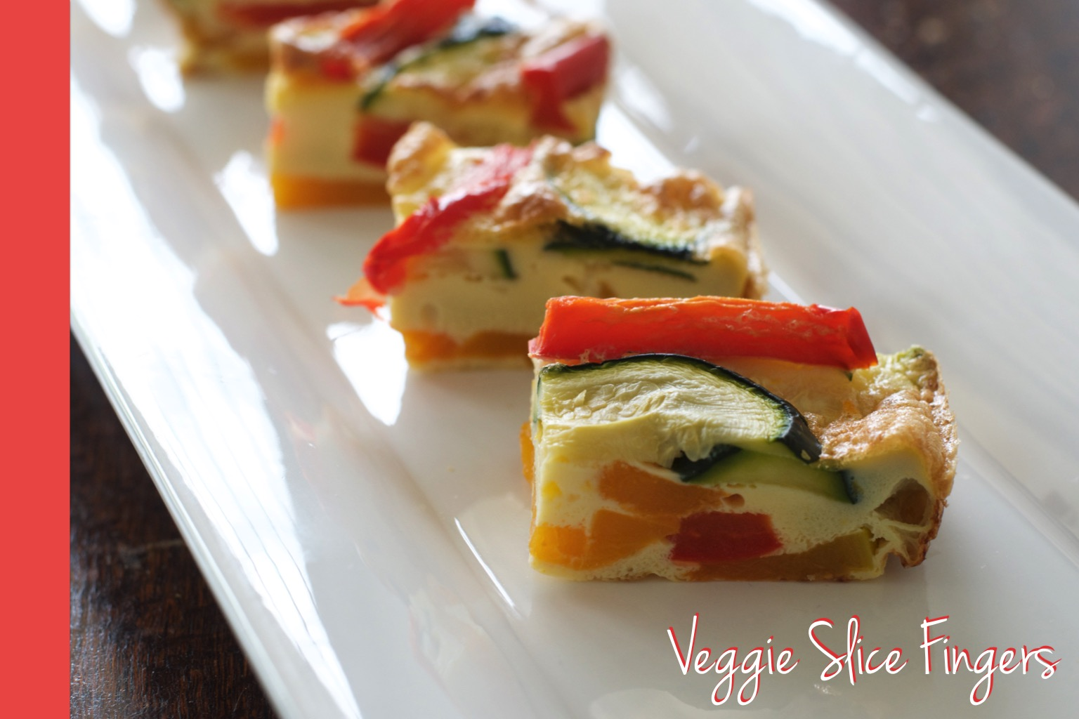 Thermomix Veggie Slice Fingers