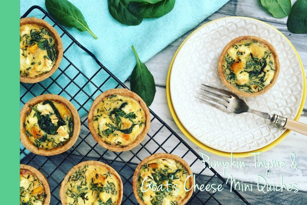 Thermomix Pumpkin Thyme and Goats Cheese Mini Quiches