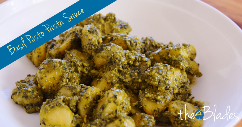 Basil Pesto Genovese Pasta Sauce in the Thermomix - The 4 Blades