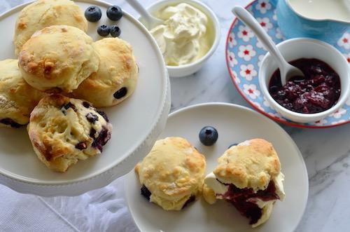Blueberry Lemon and White Chocolate Scones