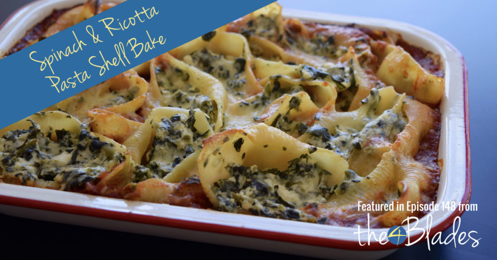 Thermomix Spinach and Ricotta Pasta Bake - The 4 Blades