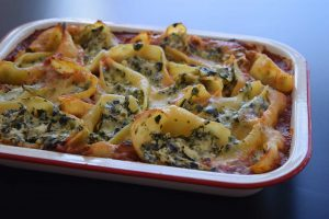 Spinach-and-Ricotta-Pasta-Shell-Bake-Thermomix-Recipe