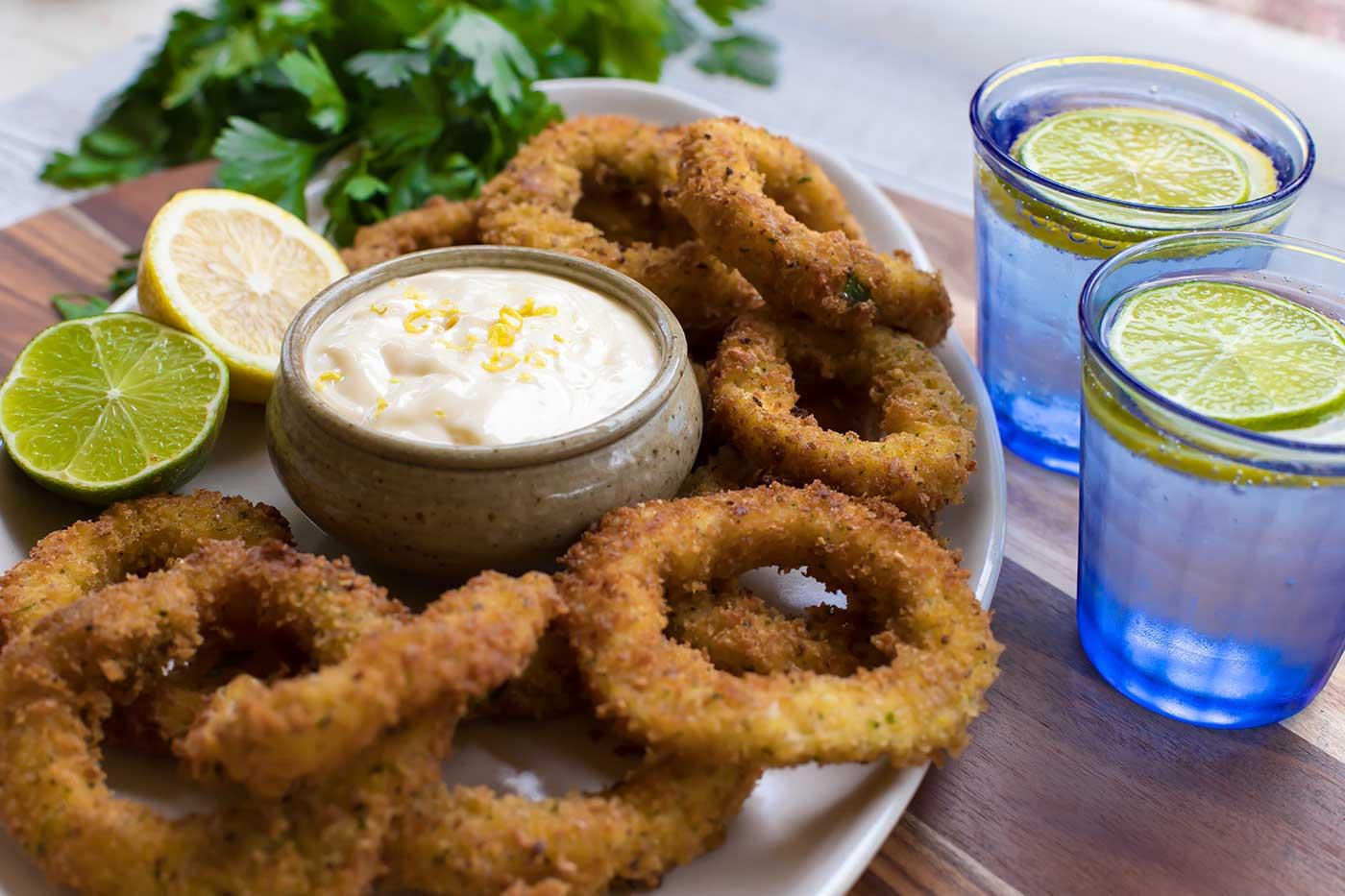 Fried-Calamari-and-Lemon-Mayonnaise-Thermomix-Recipe