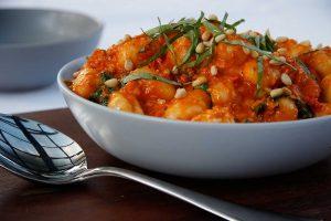 Gnocchi-with-Creamy-Semi-Dried-Tomato-and-Pine-Nut-Sauce-Thermomix-Recipe