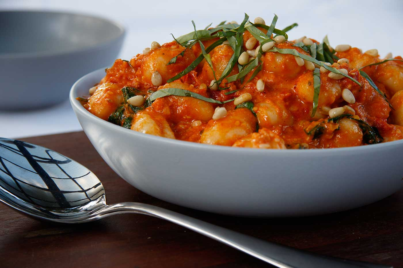 Gnocchi-with-Creamy-Semi-Dried-Tomato-and-Pine-Nut-Sauce-Thermomix-Recipe