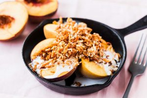 Grilled-Peaches-with-Coconut-Cream-and-Almond-Crumble-Thermomix-Recipe