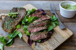 Grilled-Rib-Eye-with-Garlic-Herb-Butter-Thermomix-Recipe