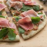 Herb and garlic pizza