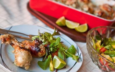 Honey and Lime Glazed Chicken Drumsticks