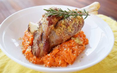 Lamb Shanks with a Zesty Rosemary Crumb