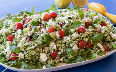 Lemon and Herb Pesto Risoni Salad