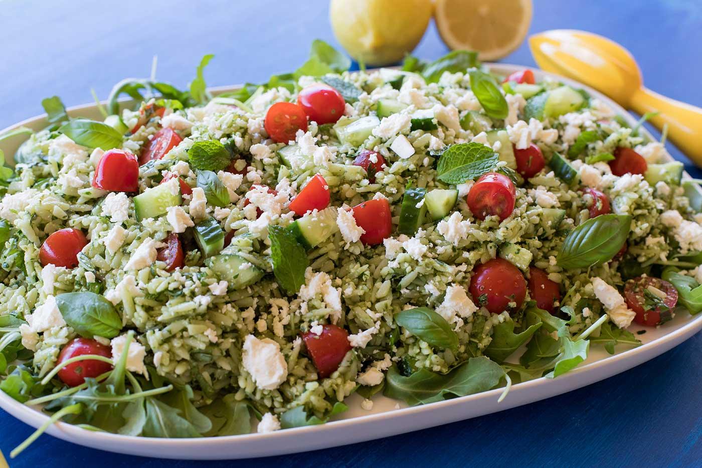 Lemon-and-Herb-Pesto-Risoni-Salad-Thermomix-Recipe