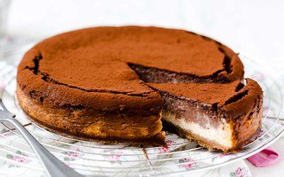 Marbled Mocha Cheesecake
