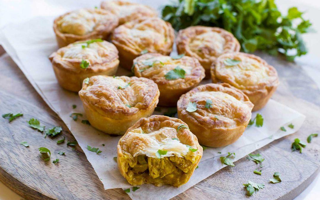 Mini Coriander Chicken Curry Pies