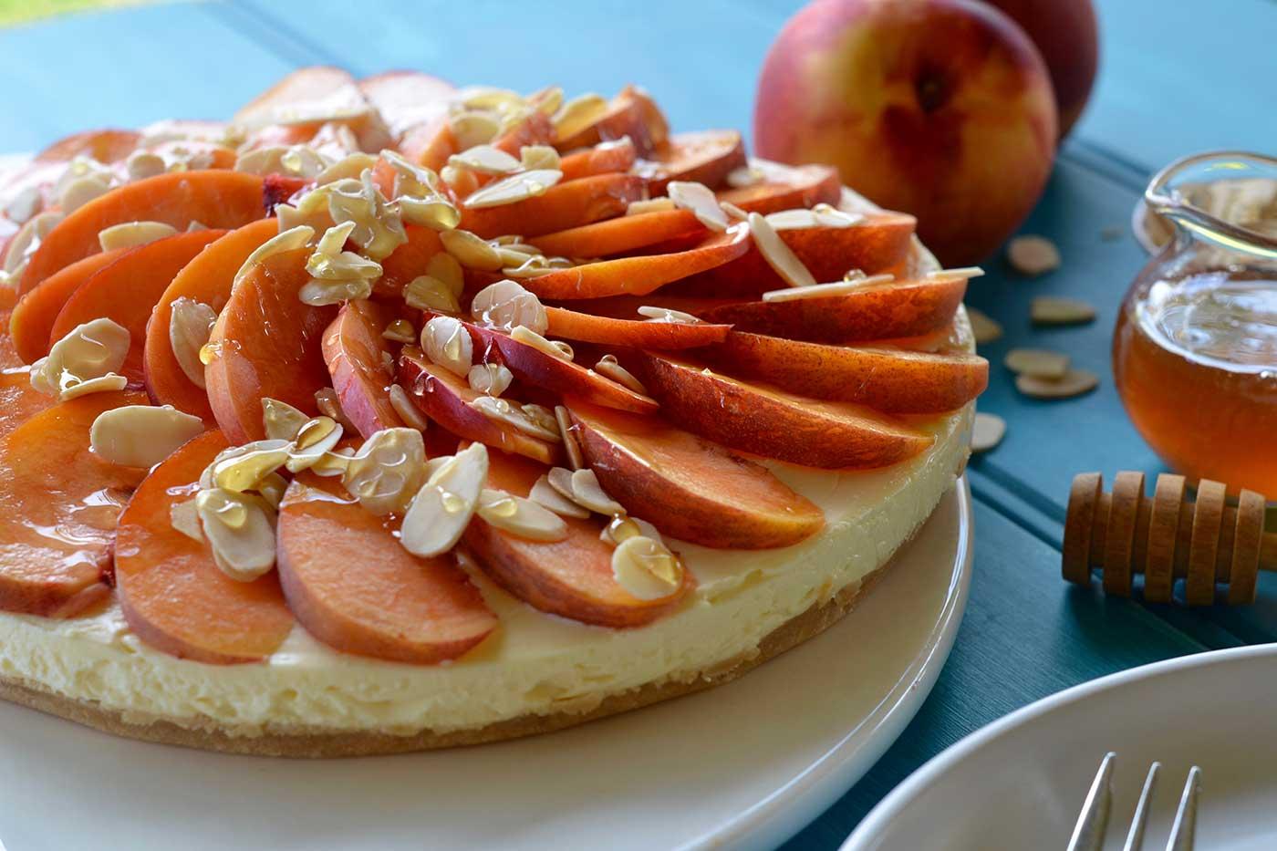 Nectarine-Almond-and-Honey-Cheesecake-Thermomix-Recipe