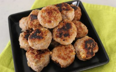 Pork, Apple & Fennel Meatballs with Apple Cider Dip