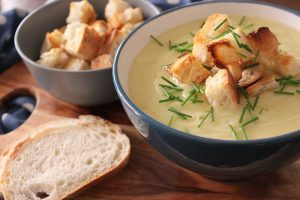 Potato-and-Leek-Soup-with-Garlic-Croutons-Thermomix-Recipe