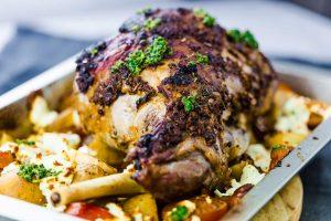 Roast-Leg-of-Lamb-with-Mint-Sauce-Thermomix-Recipe