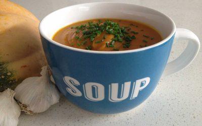 Roasted Pumpkin and Garlic Soup