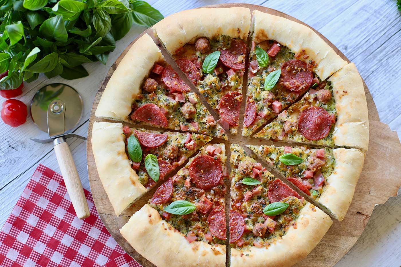 Stuffed-Crust-Meat-Lovers-Pizza-Thermomix-Recipe