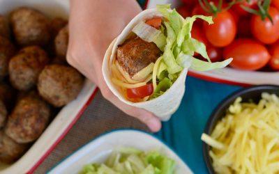 Taco Meatball Wraps