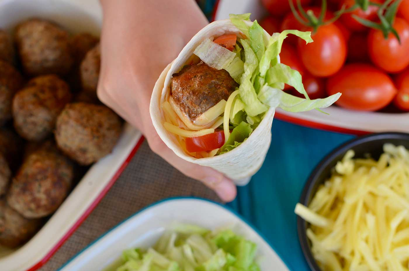Taco-Meatball-Wraps-Thermomix-Recipe