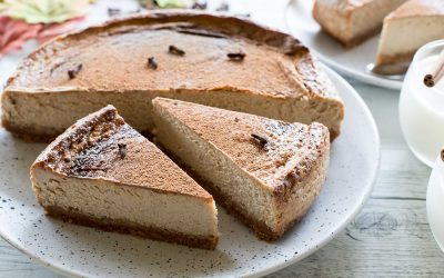 Thermomix Baked Chai Latte Cheesecake