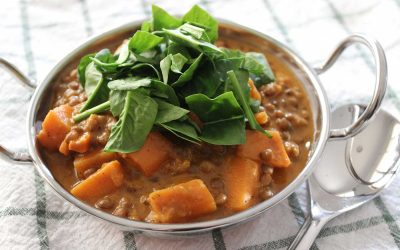Thermomix Indian Inspired Sweet Potato, Spinach and Lentil Stew
